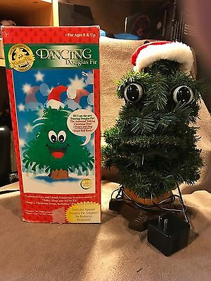 """DANCING DOUGLAS FIR TALKING TREE Motion Activated Animated Singing 14"""" Gemmy"""