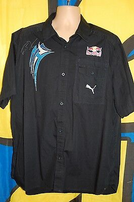 Signed By Brian Vickers Red Bull Pit Shirt NASCAR RACE USED SIZE 3XL