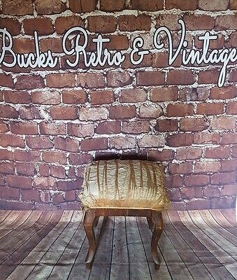 Antique Vintage Old Edwardian Victorian Piano Dressing Table Stool Seat Chair