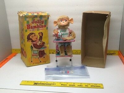 Vintage 1950's JOLLY BAMBINO the Eating Monkey FLARE TOY ALPS Battery Operated
