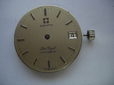 Mouvement cadran calibre Eta 490 automatic watch dial Port royal Zenith