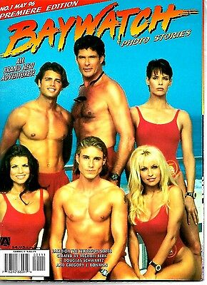 Baywatch Photo Stories Magazine #1 Pamela Anderson Brooke Burns Ex Condition