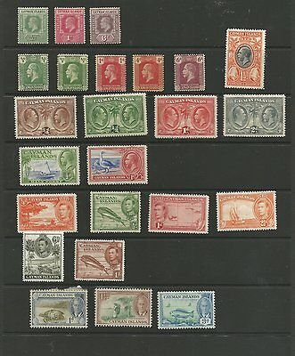 Cayman Islands M/mint Stamps From 1908-1950