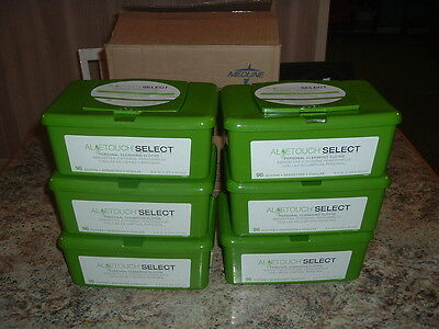 "6 BOXES OF 96 MEDLINE ALOETOUCH SELECT PERSONAL CLEANING CLOTHS 8""x12"" 576 TOTAL"
