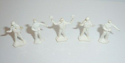 S Scale Unpainted White Figures Lot Of 5 Airport Or Railroad Controllers Police