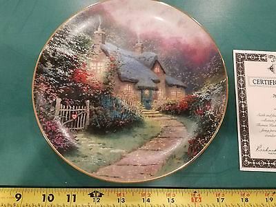 Thomas Kinkade Rose Garden Cottage Plate