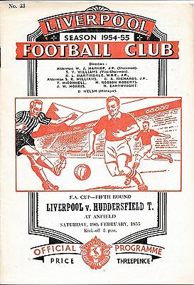 LIVERPOOL v Huddersfield Town (FA Cup) 1954/5