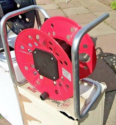 Empty Steel and Plastic Cable Reels x 4 Mains Audio Video Data XLR, Jack, BNC