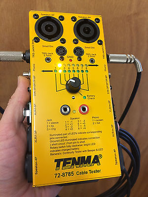 TENMA AUDIO/VIDEO CABLE TESTER - Boxed, Free Delivery, Free Energizer Battery