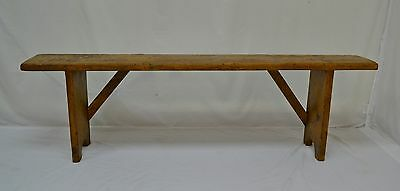 antique pine backless bench or form.