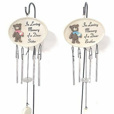 In Loving Memory Of A Dear Brother or Sister Wind Chime & Spike David Fischhoff