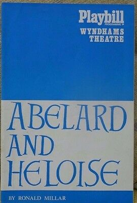 Programme, Abelard and Heloise, Wyndhams,1968, with Diana Rigg and Keith Michell