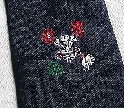 VINTAGE RUGBY UNION TIE ENGLAND IRELAND SCOTLAND WALES FRANCE 1970s 1980s MALDEN