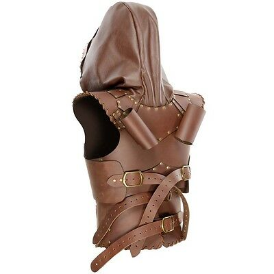 Brown Rogue Leather Armor W/ Hood, LARP, Duel Sword, Medieval, Cosplay, Thief