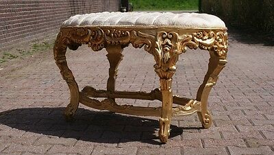 Antique Italian Multifunctional Bed Bench/side Table/foot Bench/stool