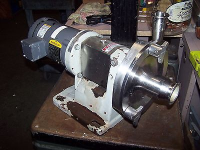 """Fristam 1 Hp Stainless Sanitary 2"""" X 1-1/2"""" Centrifugal Pump Fp721-125"""