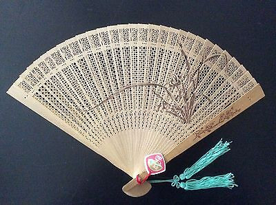 Vintage Japanese Sandalwood 'Sensu' Folding Fan