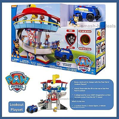 NEW PAW PATROL LOOKOUT PLAYSET inc CHASE POLICE DOG FIGURE