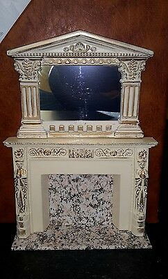 Dolls house Fireplace with matching mirror