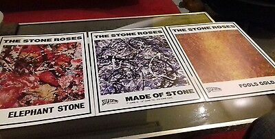 The Stone Roses set of 3 rare prints/posters A3 best quality 300gsm art paper +