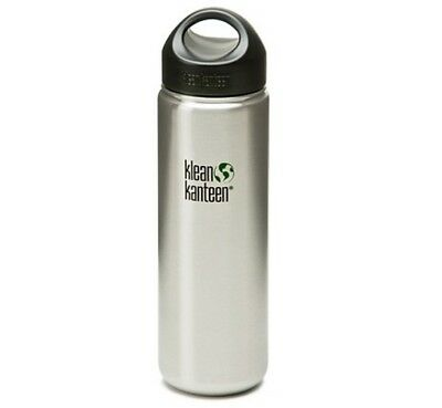 Klean Kanteen 800ml Kanteen Wide Water Bottle Stainless (w/Loop Cap) RRP £15.95