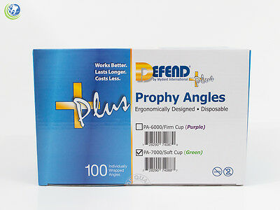 Defend +Plus Disposable Prophy Angles Pa-7000/ Soft Cup Green Latex Free 100/Bx