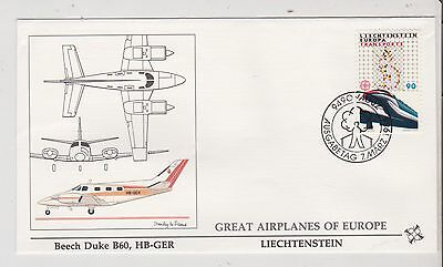 Liechtenstein  - FDC's - Great Airplanes of Europe - Europa 1988  (G81) (X)