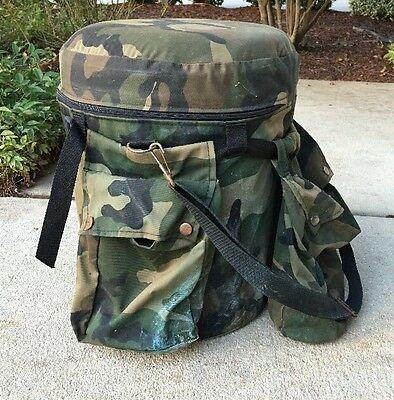 Camo Cooler Bucket w/Cover Padded Seat & 3 Pockets-Hunting Gear-Sports/Outdoors