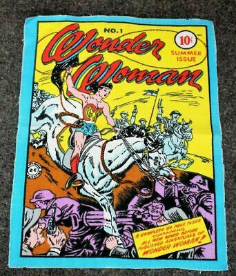 Wonder Woman #1 Summer Issue 1975 DC RARE Cloth Wall Hanging Poster FN