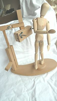 WOODEN ARTIST MODEL WITH ADJUSTABLE STAND.12 inch