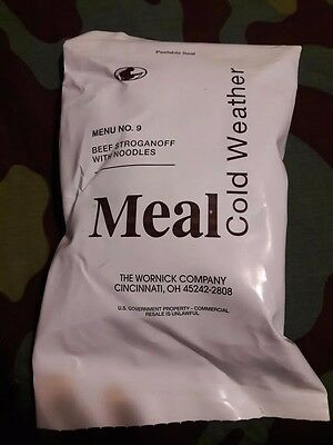 Food Packet Meal Cold Wether LRP MRE EPA ration BEEF STROGANOFF - location EU