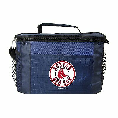 Boston Red Sox Insulated Cooler Zipper Lunch Bag Box Tote 6 Pack MLB NWT