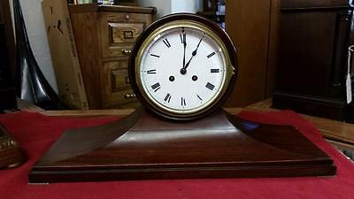 French Balloon Mahogany Mantle Clock