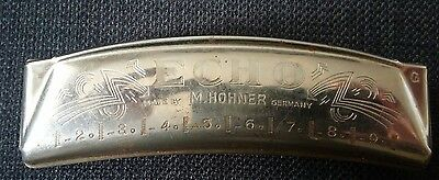 Vintage Hohner Echo harmonica Key of G