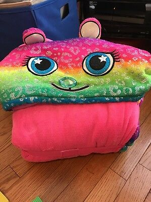 Euc Justice Rainbow Critter Sleeping Bag With Good