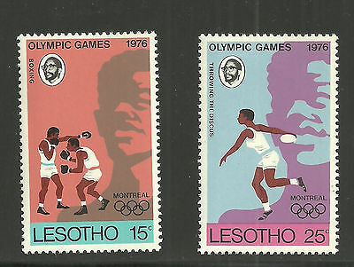 Lesotho #209-212 Complete Set Montreal Olympics 1976 & More
