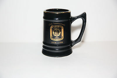 Pre-Owned Fairfax Fire and Rescue 20th Anniversary (1978-1998) Beer Stein 16 oz.