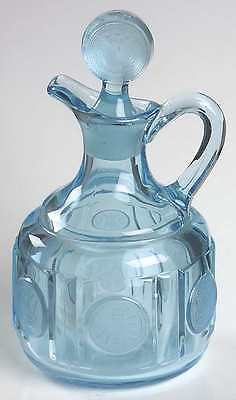 Fostoria COIN GLASS DARK BLUE Cruet & Stopper 1800971