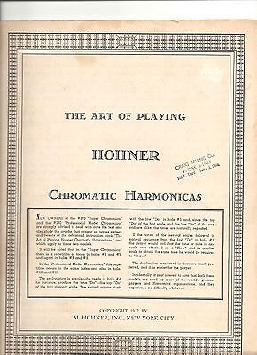 "1937""The Art Of Playing"" HOHNER CHROMATIC HARMONICAS  M. HOHNER INC NYC BOOK"