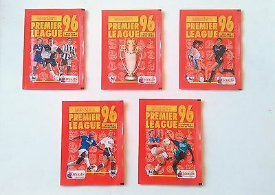 5 x Packs Merlin Premier League 96 Stickers - New Unopened Mint Condition