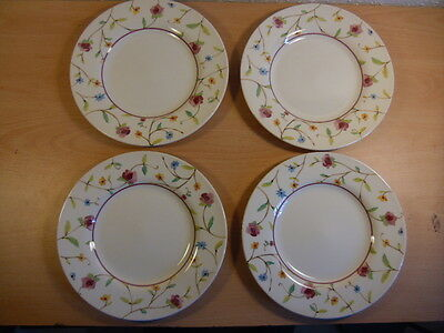 4 Royal Stafford England Floral Side Plates or Dessert Dishes.Fine Earthenware