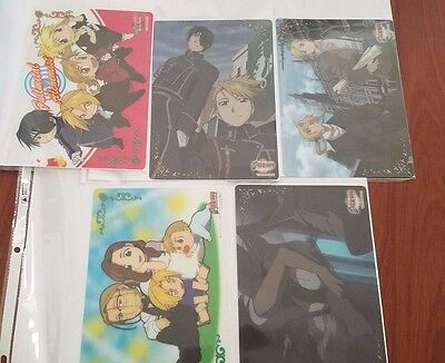 Fullmetal Alchemist Clear Plate Shitajiki Pencil board Set of 9