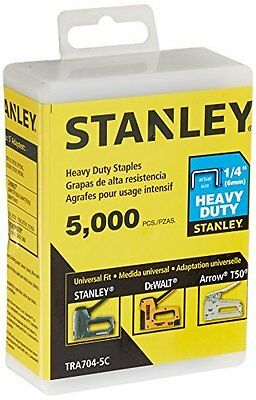 Stanley Tra704-5C Heavy Duty Narrow Crown Staples,1/4 Inch,Pack of