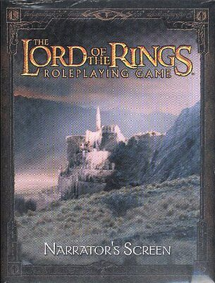 LORD OF THE RINGS RPG - Narrator's Screen (Roleplaying Adventure Game) #NEW