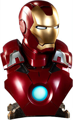 "THE AVENGERS - Iron Man Mark VII 24"" Life-Size 1:1 Scale Bust (Sideshow) #NEW"