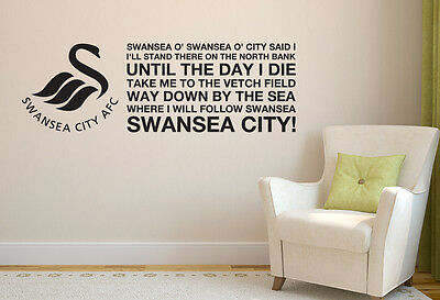 Swansea City Football Club Official North Bank Song Wall Sticker Decal Mural