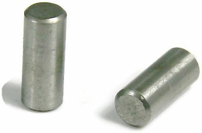 Stainless Steel 18-8 Dowel Pin Rod, 1/8 x 1-1/4, Qty 100