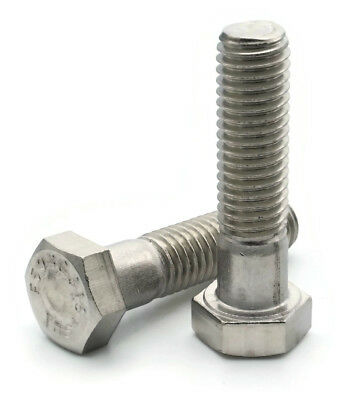 316 Stainless Steel Hex Cap Screw Bolt PT UNC 5/16-18 x 3-1/2, Qty 25