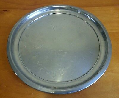 "WOODBURY PEWTERERS 12"" Pewter Serving Tray Round RH ATC"