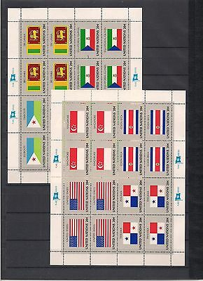 United Nations New York 8 sheets of 16 stamps! 4 scans!